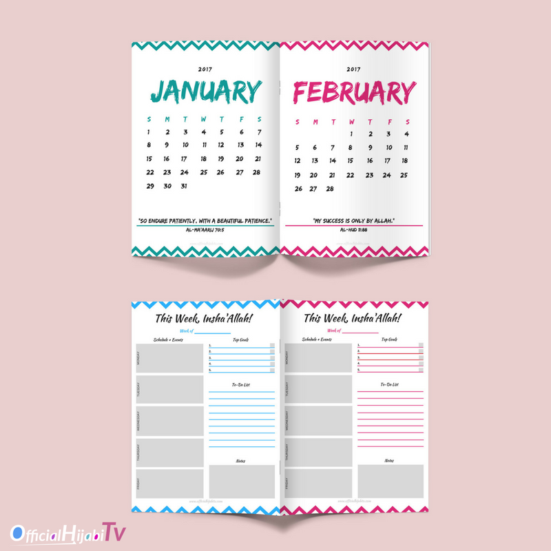 Download Your Free New Year Calendar Printable From Official Hijabi